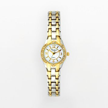 Precision by Gruen Women's Crystal Two Tone Watch