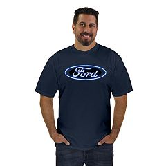 Men's Newport Blue Ford Neon Logo Graphic Tee