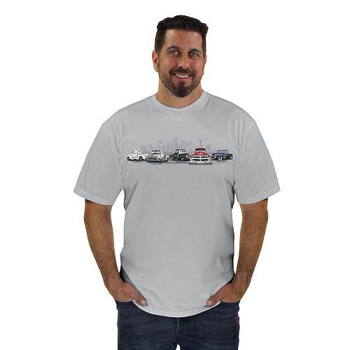 Men's Newport Blue Classic Truck Graphic Tee