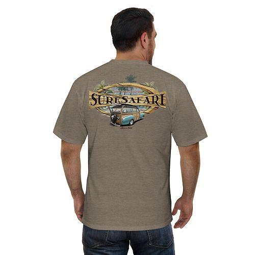 "Men's Newport Blue ""Surf Safari"" Graphic Tee"
