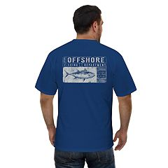 Men's Newport Blue 'Offshore Fishing Department' Graphic Tee