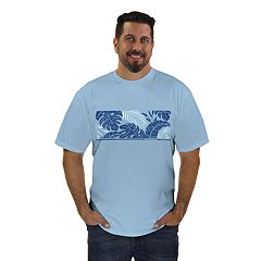 Men's Newport Blue Ohana Leaves Graphic Tee