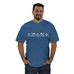 Men's Newport Blue Palm Tree Graphic Tee
