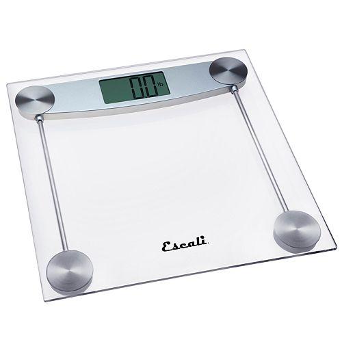 Escali Clear Glass Bathroom Scale