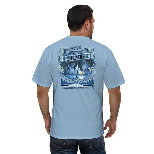 "Men's Newport Blue ""Lost In Paradise"" Graphic Tee"