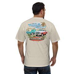 Men's Newport Blue Ford 'Beach Break' Pickup Truck Graphic Tee