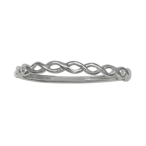 PRIMROSE Sterling Silver Twisted Double Wire Ring