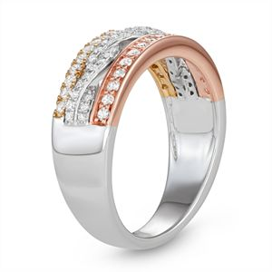 Simply Vera Vera Wang 14k Tri-Tone Gold 1/2 Carat T.W. Diamond Ring