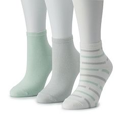 Women's SONOMA Goods for Life™ 3-Pack Solid & Striped Ankle Socks