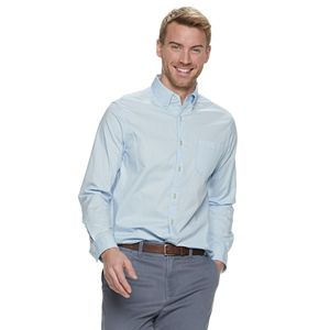 9036fd4e6ad904 Men's SONOMA Goods for Life™ Slim-Fit Perfect Length Button-Down Shirt
