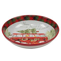 Certified International Home For Christmas Pasta Serving Bowl