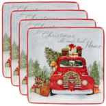 Certified International Home for Christmas 4-piece Dinner Plate Set