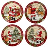 Certified International Holiday Wishes 4-piece Dinner Plate Set