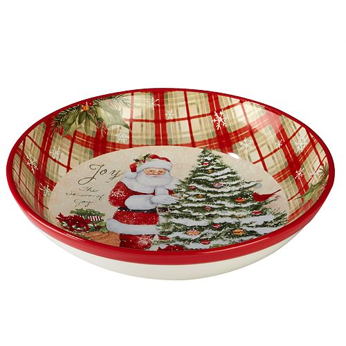 Certified International Holiday Wishes Pasta Serving Bowl
