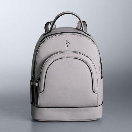 Simply Vera Vera Wang Textured Double-Entry Mini Backpack
