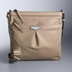 73df10ba8 Simply Vera Vera Wang Lissa Crossbody Bag. Khaki Navy Wildflower Black