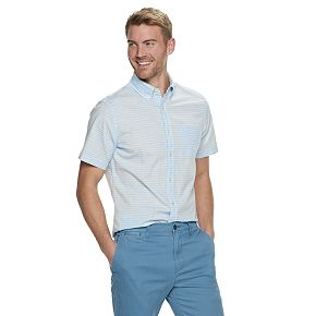 Men's SONOMA Goods for Life? Slim-Fit Stretch Poplin Button-Down Shirt