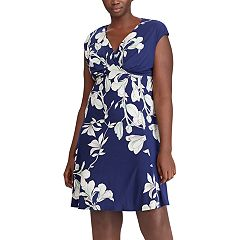 Plus Size Chaps Floral Empire Dress