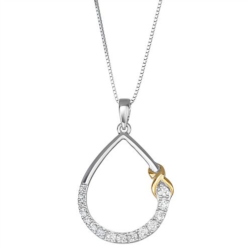 1/3 Carat T.W. Diamond Teardrop Pendant