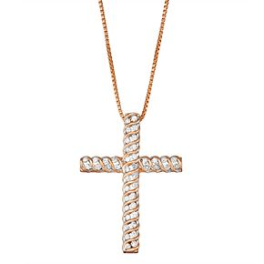 1/2 Carat T.W. Diamond Cross Pendant