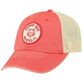 Men's Top of the World Arkansas State Red Wolves Keepsake Enzyme Washed Cap