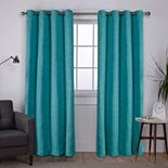 Exclusive Home 2-pack Vesta Textured Woven Blackout Window Curtains