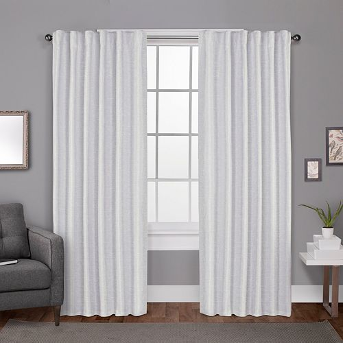 Exclusive Home 2-pack Zeus Solid Textured Woven Blackout Window Curtains