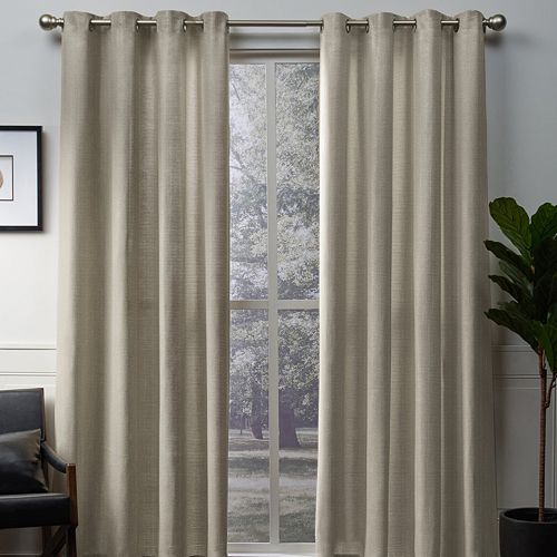 Exclusive Home 2-pack Winfield Metallic Sheen Window Curtains