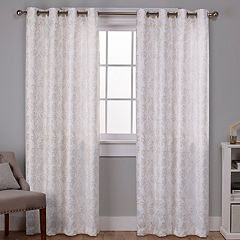 Exclusive Home 2-pack Watford Distressed Metallic Print Blackout Window Curtains