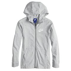 e08bf21b718d Boys 8-20 Nike Solid Full-Zip Hoodie. Blue Void Gray Heather White Indigo  Force Red Obsidian Black White