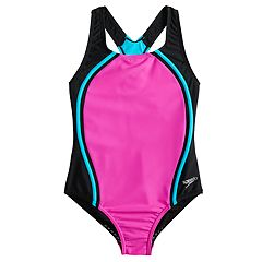ea54da78716 Girls 7-16 Speedo Sport Splice One-Piece Swimsuit