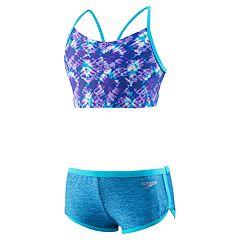 Girls 7-16 Speedo Camikini Top & Boyshort Bottoms Swimsuit Set