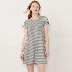 Juniors' Lauren Conrad Tie Sleeve Swing Dress
