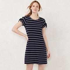 Petite LC Lauren Conrad Tie Sleeve Swing Dress