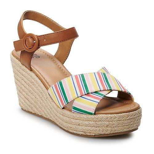 SO® Rosebay Women's Espadrille Wedge Sandals