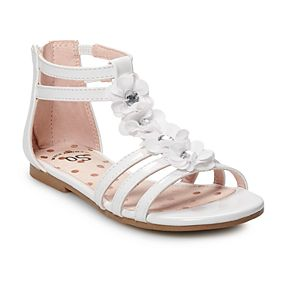 SO® Bunny Girls' Gladiator Sandals