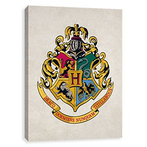 Artissimo Harry Potter Hogwarts Crest Canvas Wall Art