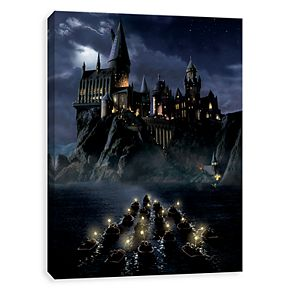 Artissimo Harry Potter Hogwarts First Night Sail Canvas Wall Art