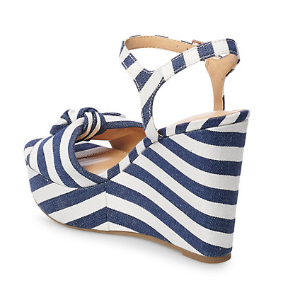 LC Lauren Conrad Blueberry Women's Wedge Sandals