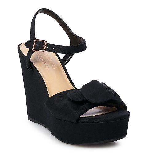 LC Lauren Conrad Blueberry Women's Wedge Sandals