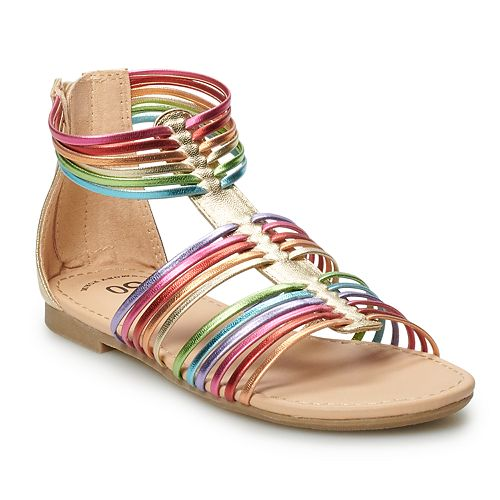 SO® Rainbow Girls' Gladiator Sandals
