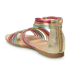 SO® Rainbow Girls' Gladiator Sandals
