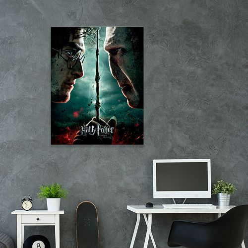 Artissimo Harry Potter And The Deathly Hallows Part II Canvas Wall Art