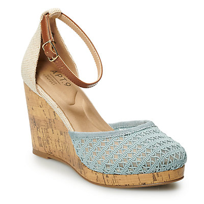 Apt. 9® Jacques Women's Ankle Strap Wedge Sandals