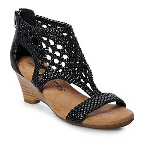 Croft & Barrow® Gazebo Women's Ortholite Woven Wedge Sandals
