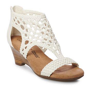acbf592b1d4 Croft   Barrow® Woven Women s Wedge Sandals