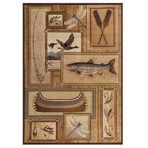 KHL Rugs Trout Fishing Area Rug