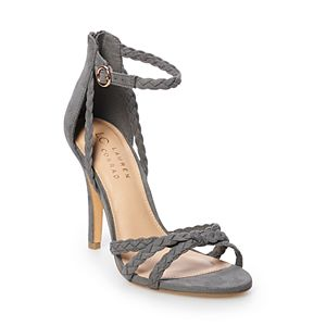 LC Lauren Conrad Pie Crust Women's Braided High Heels