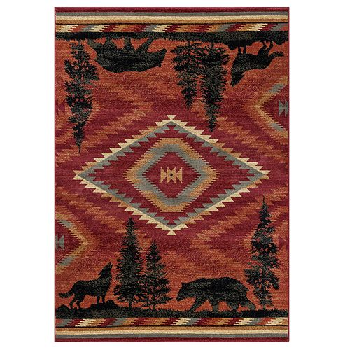 KHL Rugs Colorblock Wildlife Lodge Area Rug