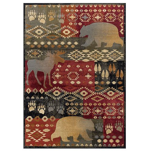 KHL Rugs Fly Fishing Lodge Area Rug